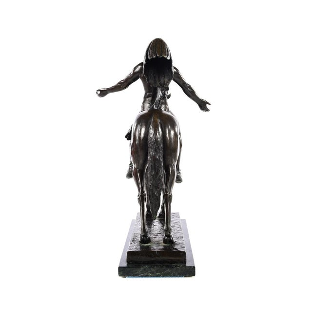 Cyrus Dallin Appeal to the Great Spirit Native American Chief Bronze Sculpture For Sale In Los Angeles - Image 6 of 9