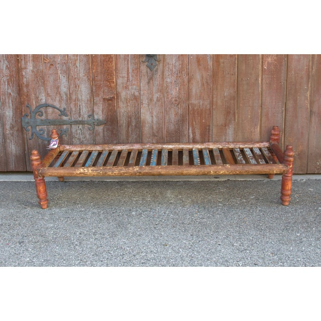 Mid 20th Century Long Slat Coffee Table For Sale - Image 5 of 6