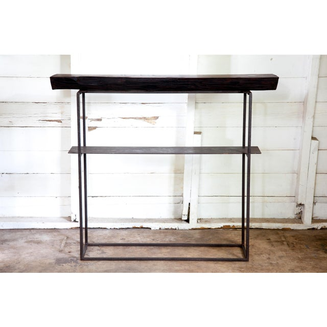 """Organic Modern Natural Edge Long-Leaf Pine Entry Console 39"""" For Sale In San Antonio - Image 6 of 6"""