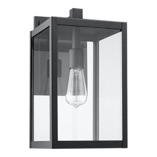 Modern Aluminum 1 Light Black Outdoor Wall Light For Sale