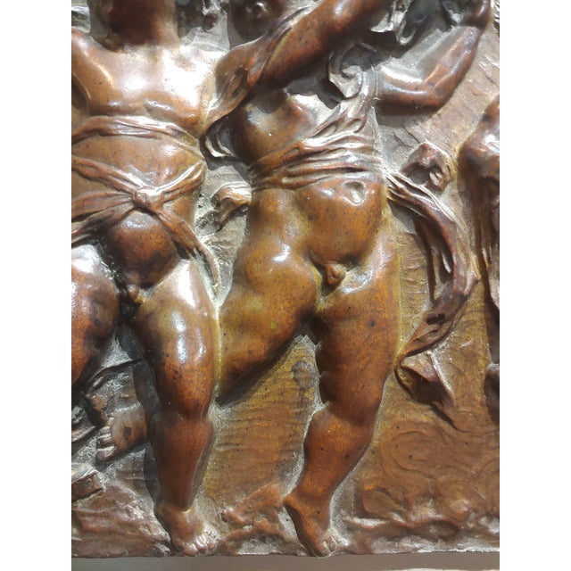 19th Century French Bronze Relief Plaque - 3 Dancing Cherubs For Sale In Los Angeles - Image 6 of 9