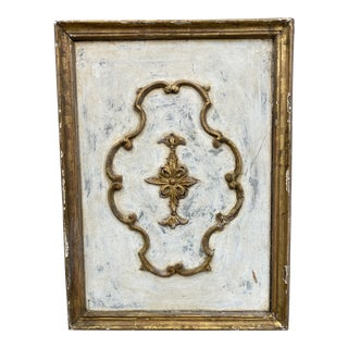 Tuscan Painted Carved Wall Panel - 19th C For Sale