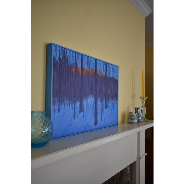 """Stephen Remick """"Nightfall in Deer Hollow"""" Contemporary Expressionist Landscape Painting For Sale - Image 9 of 12"""