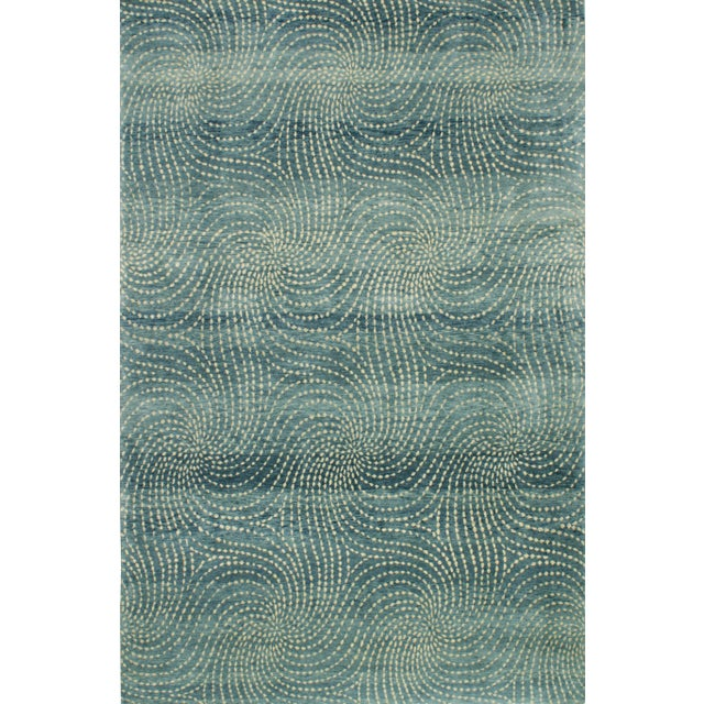 Abstract ModernArt Collection - Customizable Sapphire Rug (4x6) For Sale - Image 3 of 5