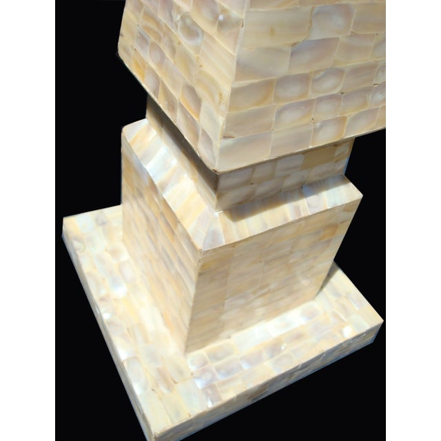 Large Mother of Pearl Obelisk For Sale - Image 4 of 5