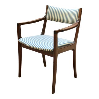 Danish Modern Solid Mahogany Arm Chairs, Attributed to Ole Wanscher, Circa 1950 - 6 Available For Sale