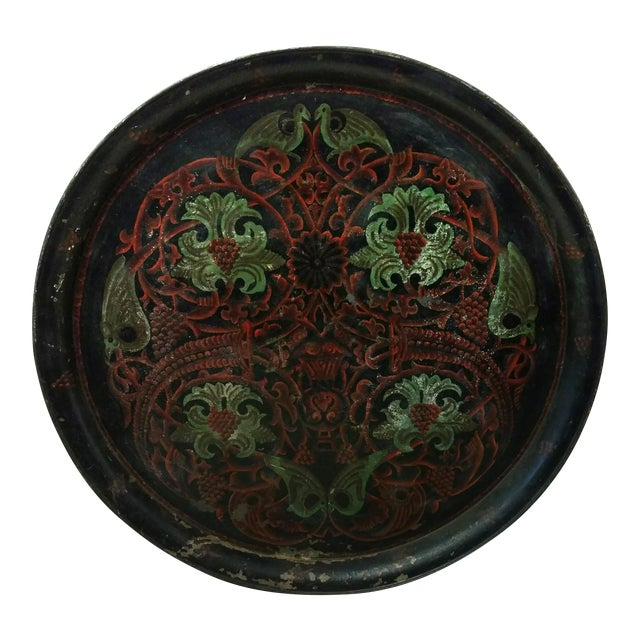 Antique Anglo Indian Huge Festival Wedding Tray For Sale