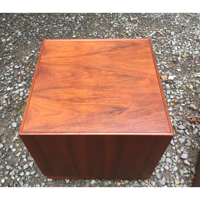 Jens Risom Mid Century Modern Cube Tables ~ a Pair For Sale In Nashville - Image 6 of 13