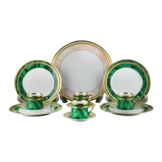 Christian Dior Malachite Dessert Set