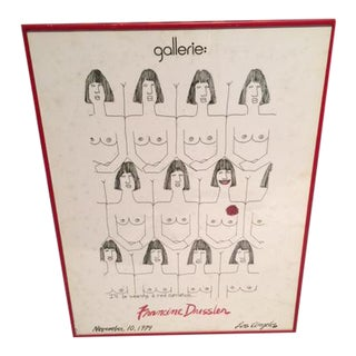 Mid-Century Francine Dressler Gallerie Print For Sale