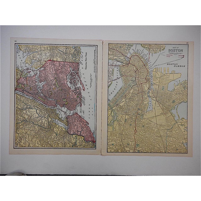 City Map Antique Lithograph - New York City, NY For Sale - Image 4 of 4