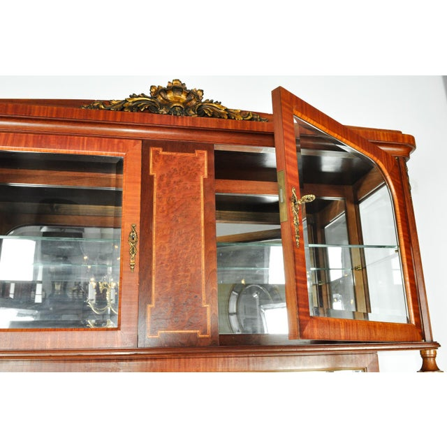 Antique Sandwood Mahogany Hutch or Cabinet For Sale - Image 4 of 13
