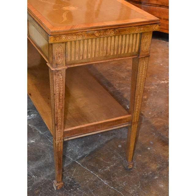 Edwardian Marquetry Inlaid Console Table For Sale In Dallas - Image 6 of 9