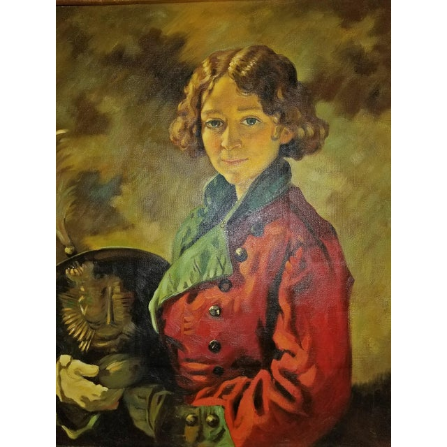 Red Oil on Canvas of the Roscommon Dragoon After Sir William Orpen For Sale - Image 8 of 8