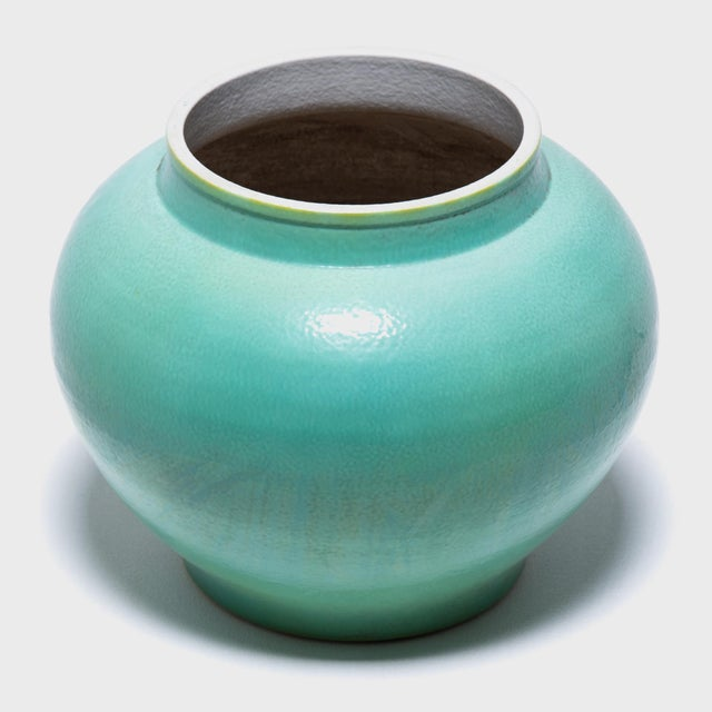 Early 21st Century Chinese Liu Onion Jar For Sale - Image 5 of 6