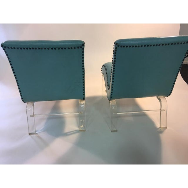 1940s Pair of Grosfeld House Graceful Lucite Lounge Chairs Designed by Lorin Jackson For Sale - Image 5 of 9