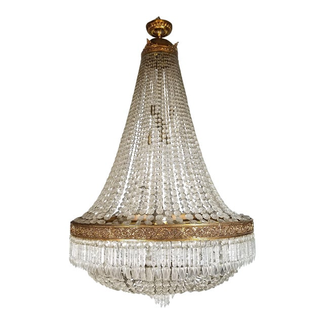 Circa 1920 French Empire Style Chandelier For Sale