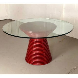 Contemporary McGuire Red Round Table Preview