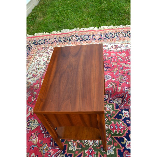1960s Mid Century Modern Walnut and Rosewood Perspecta Night Stand by Kent Coffey For Sale - Image 11 of 12