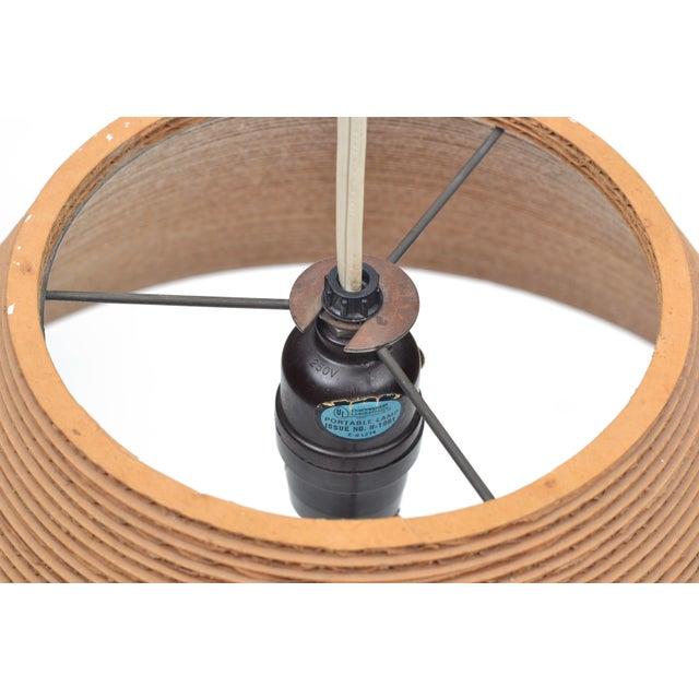 Brown Gregory Van Pelt Corragated Cardboard Hanging Light For Sale - Image 8 of 9