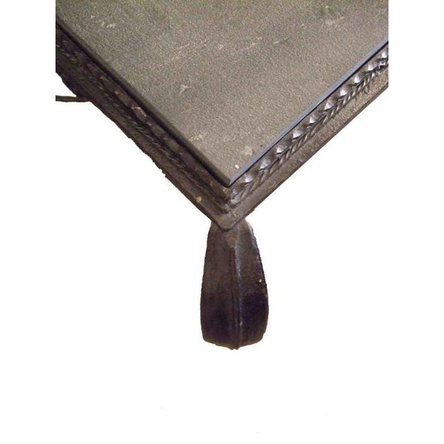 Vintage Iron Side Table With Slate Top For Sale In Boston - Image 6 of 7