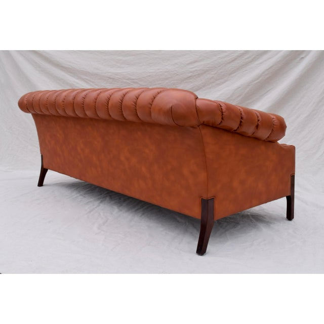 Swedish Leather Chesterfield Sofa For Sale In Philadelphia - Image 6 of 13