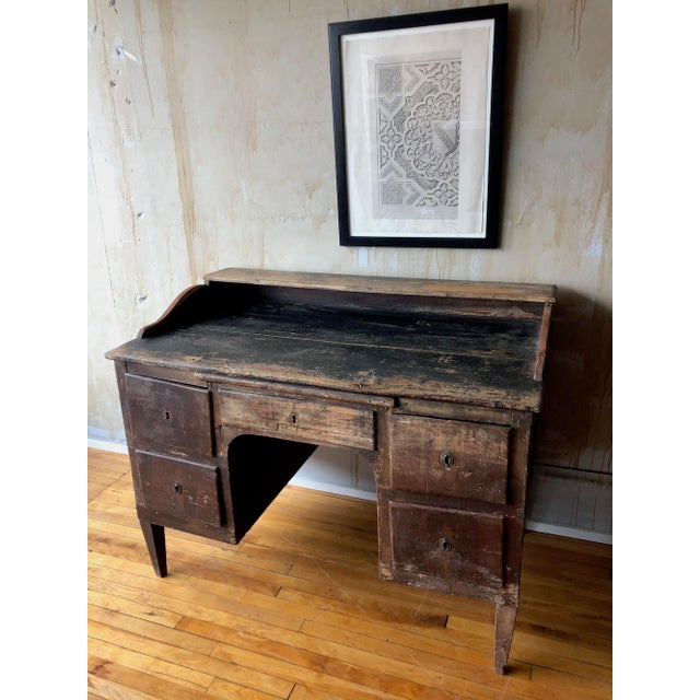 Rustic European Rustic Tuscan Office Desk For Sale - Image 3 of 11