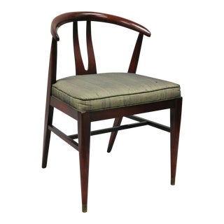 Vintage Mid Century Modern Horseshoe Curved Back Chair For Sale