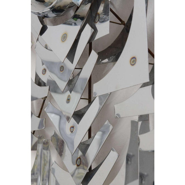 1970s, Mid-Century Modern, Pop Art, Polished Chrome, Square, 3-D Wall Sculpture For Sale - Image 9 of 11