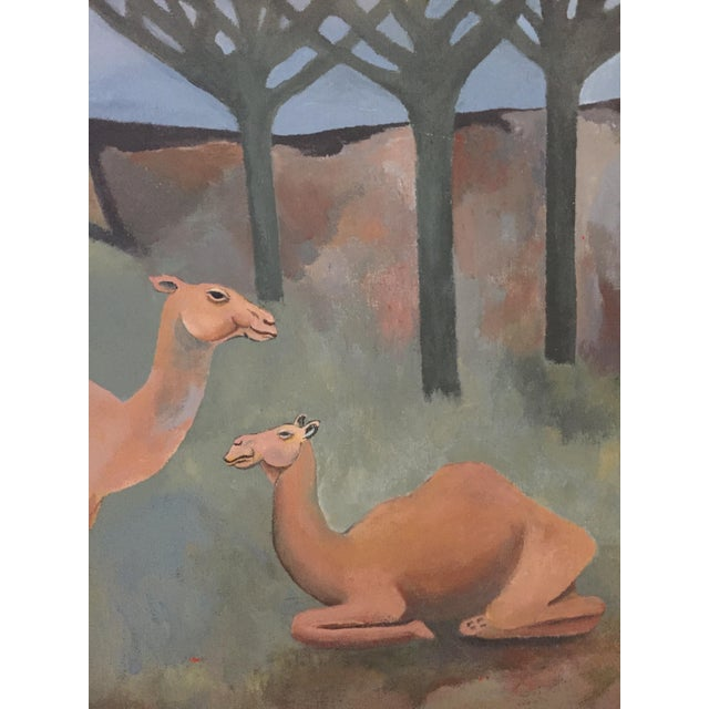 Mid-Century Camel Oil Painting - Image 4 of 7