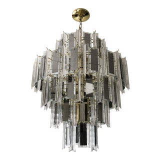1980's Hollywood Regency Venini Style Chandelier For Sale