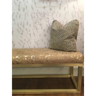 Taylor Burke Home Upholstered Metal Cowhide Bench Preview