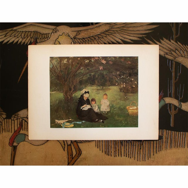 """1950s 1951 After Berthe Morisot """"The Lilac in Maurecourt"""", First Edition Impressionist Parisian Lithograph For Sale - Image 5 of 8"""
