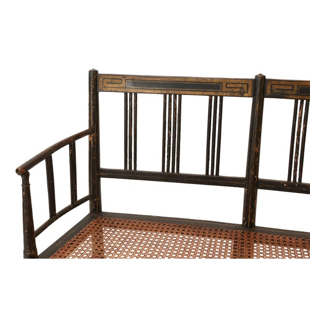 Regency Caned Settee For Sale In Houston - Image 6 of 12