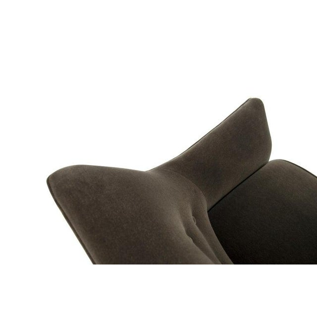 Henry Glass Lounge Chairs in Mohair - a Pair For Sale - Image 12 of 13