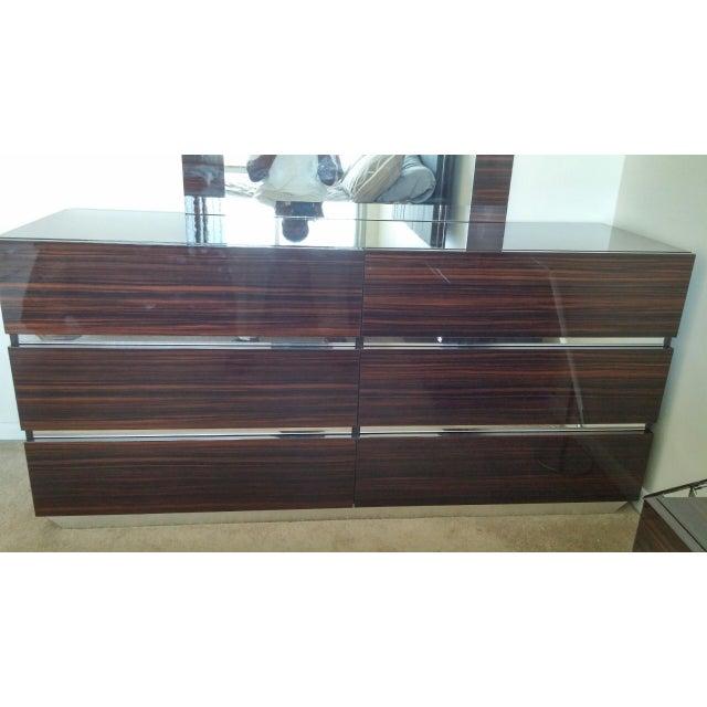 Luxor Italian Modern Ebony Dresser - Image 2 of 4