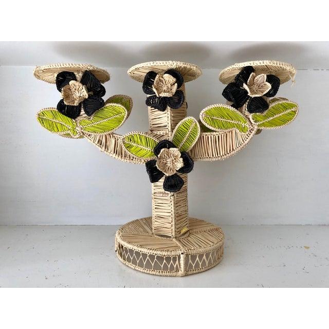 Textile Mercedes Salazar Handmade Straw Candleholder For Sale - Image 7 of 7