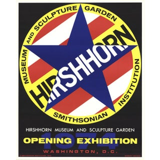 """""""Hirshhorn"""" by Robert Indiana - Lithograph 1974 For Sale"""