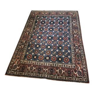 Antique Veramin Persian Wool Rug For Sale