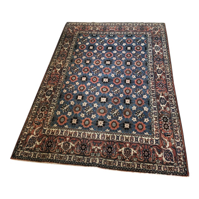 Antique Veramin Persian Wool Rug For Sale