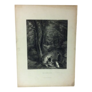 "Antique Print on Paper, ""The Cover Side"" by J. Cousen, Circa 1880 For Sale"