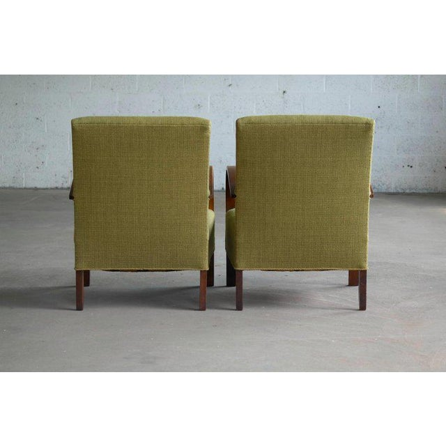 Early Midcentury Danish Art Deco Low Lounge Chairs- A Pair For Sale - Image 11 of 12