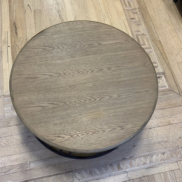 Layla Grace Layla Grace Round Metal Coffee Table For Sale - Image 4 of 8