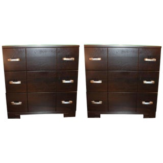 Pair of Bedside Chests For Sale