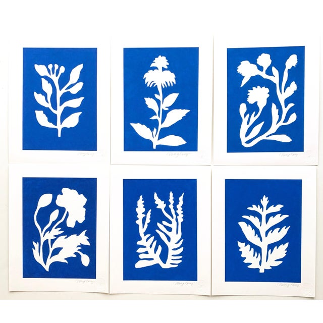 "This is part of a collection of paintings I created called ""Sunprints"" based on the imagery of botanical cyanotype prints...."