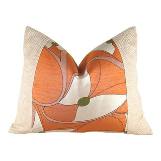 Vintage Japanese Silk Obi Butterfly Pillow For Sale