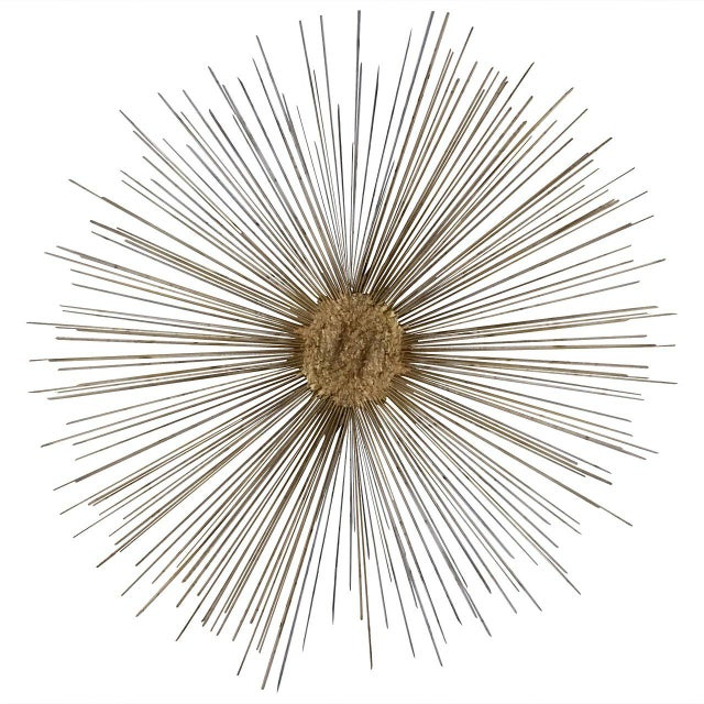 Gold Curtis Jere Style Starburst Wall Sculpture by Bruce & William Friedle For Sale - Image 8 of 8