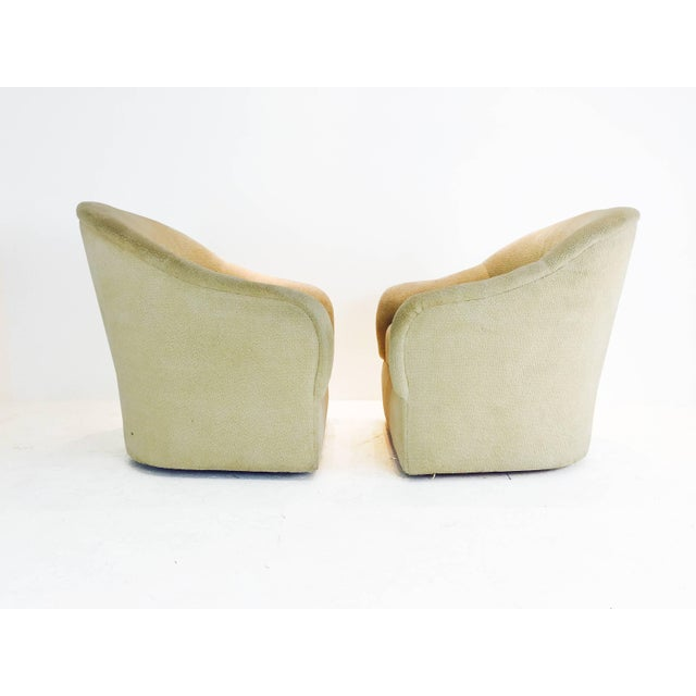 Mid-Century Modern Pair of Ward Bennett Barrel Back Club Chairs For Sale - Image 3 of 6
