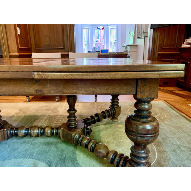Wood 19th Century French Draw Leaf Table For Sale - Image 7 of 9