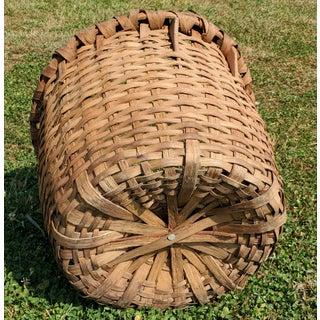 Primitive Hand Woven Harvest Splint Basket Preview
